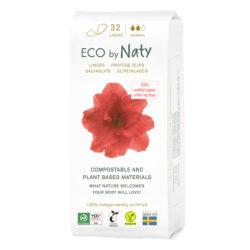 Eco by Naty Slipeinlagen Normal 32 Stück. 100% Kompostierbare Materialien. Vegan 12x32Stück