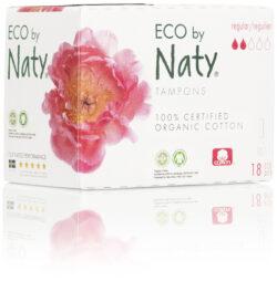 Eco by Naty Tampons Regular, 18 Stück je Packung 24x18Stück