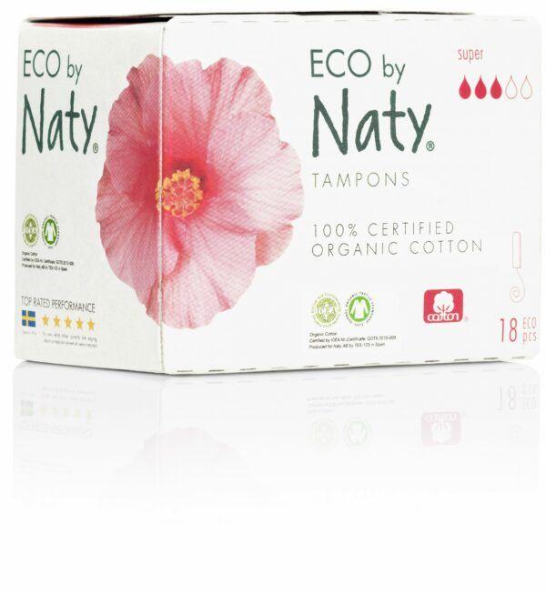 Eco by Naty Tampons Super, 18 Stück je Packung 24x18Stück