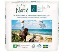 Eco by Naty Windelhöschen Pull on Pants, Größe 6 4x18Stück