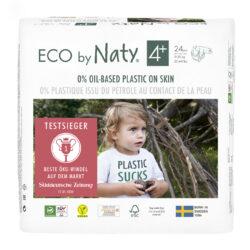 Eco by Naty Windeln Neue Gen Größe 4+ 6x24Stück