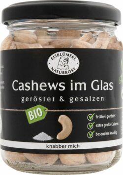 Eisblümerl Naturkost Cashews im Glas geröstet und gesalzen 6x125g