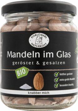 Eisblümerl Naturkost Mandeln im Glas geröstet und gesalzen 6x135g