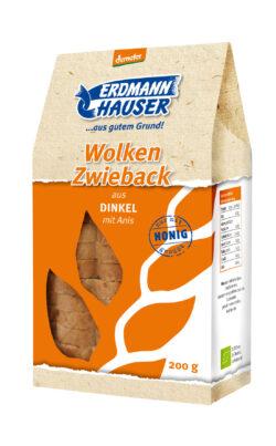 ErdmannHAUSER Getreideprodukte ErdmannHAUSER demeter Wolkenzwieback aus Dinkel mit Anis 6x200g