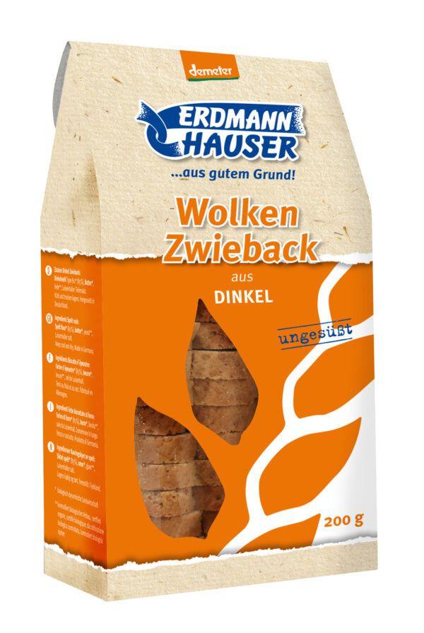 ErdmannHAUSER Getreideprodukte ErdmannHAUSER demeter Wolkenzwieback aus Dinkel 6x200g