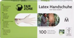 FAIR ZONE Einweghandschuhe Größe M - Fair Trade & FSC 100Stück