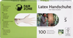 FAIR ZONE Einweghandschuhe Größe S - Fair Trade & FSC 10x100Stück