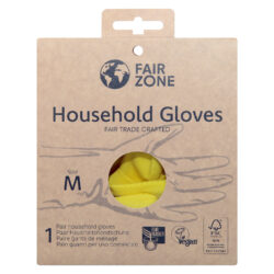 FAIR ZONE Haushaltshandschuhe Größe M - Fair Trade & FSC 8x1Paar