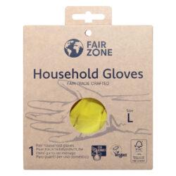 FAIR ZONE Haushaltshandschuhe Größe L - Fair Trade & FSC 8x1Paar