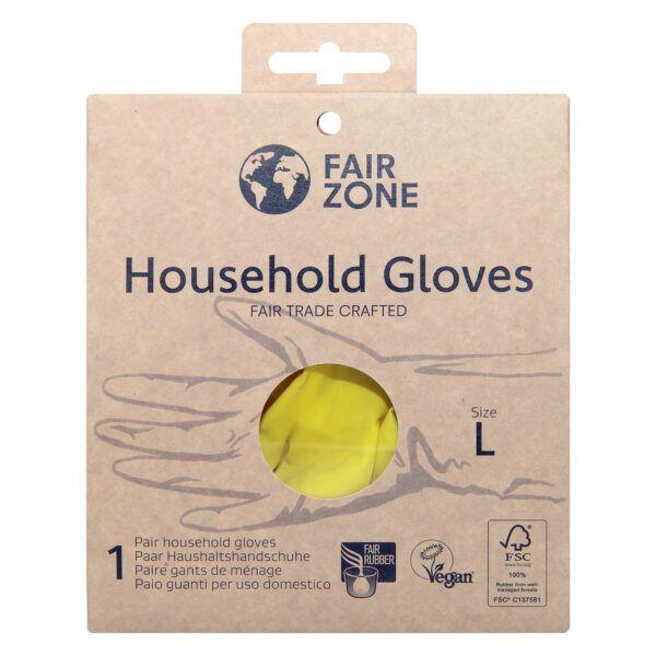 FAIR ZONE Haushaltshandschuhe Größe L - Fair Trade & FSC 1Paar