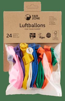 FAIR ZONE Luftballon Mix 24 Stück - Fair Trade & FSC 8x24Stück