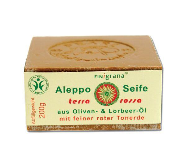 FINigrana® Naturkosmetik FINigrana Aleppo Peelingseife, Olive mit 30% Terra Rossa & Lorbeeröl 24x200g
