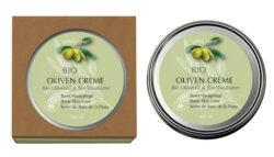 FINigrana® Naturkosmetik FINigrana® Bio Oliven-Creme Soft, 100ml in Weißblechdose, Umkarton und Info 100ml