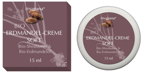 FINigrana® Naturkosmetik FINigrana® BIO Erdmandel-Creme Soft, 15ml im PE Tiegel mit Umkarton 15ml