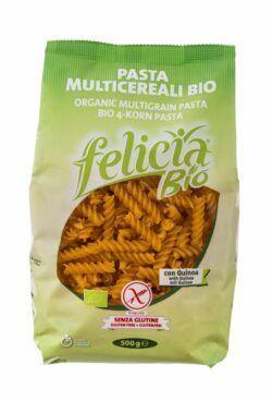 Felicia Bio Mais, Reis, Buchweizen und Quinoa Fusilli glutenfrei 12x500g