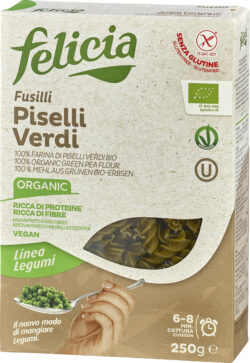 Felicia Bio Grüne Erbsen Fusilli glutenfrei 12x250g