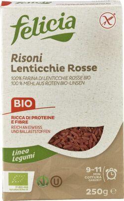 Felicia Bio Rote Linsen Risoni glutenfrei 12x250g
