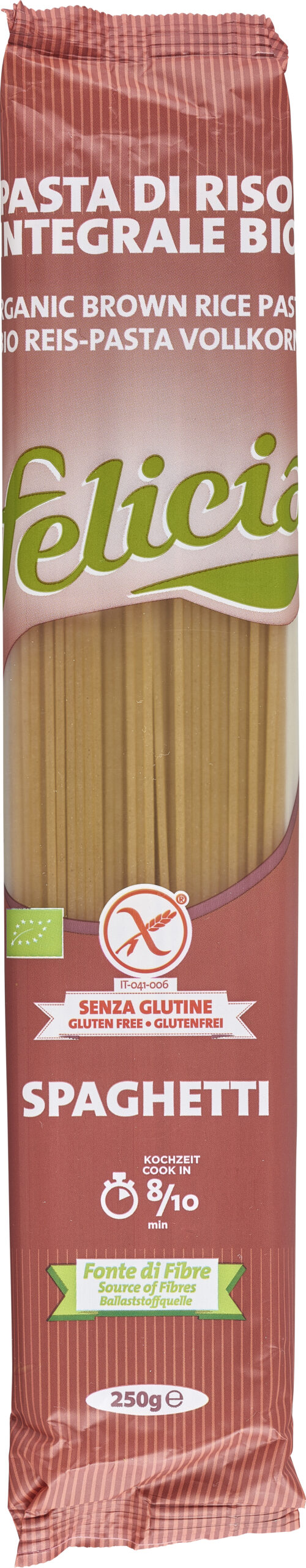 Felicia Bio Vollkornreis Spaghetti glutenfrei 250g