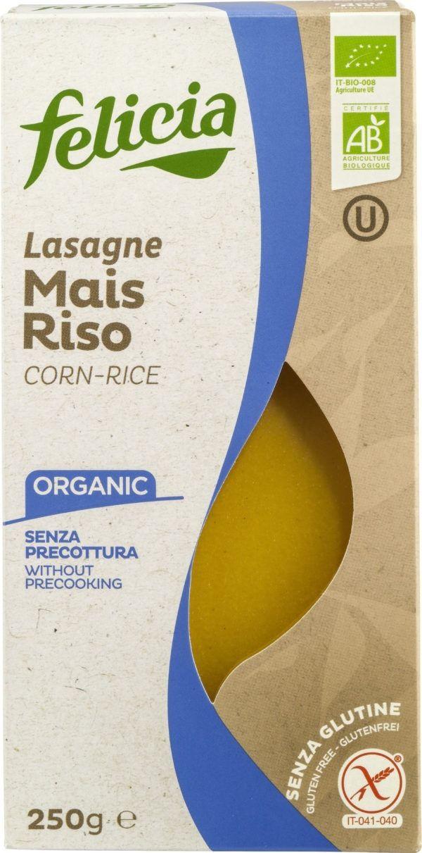 Felicia Bio Mais-Reis Lasagne glutenfrei 12x250g