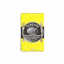 Fish4Ever Sardinen in Bio-Olivenöl mit Bio Zitrone 10x120g