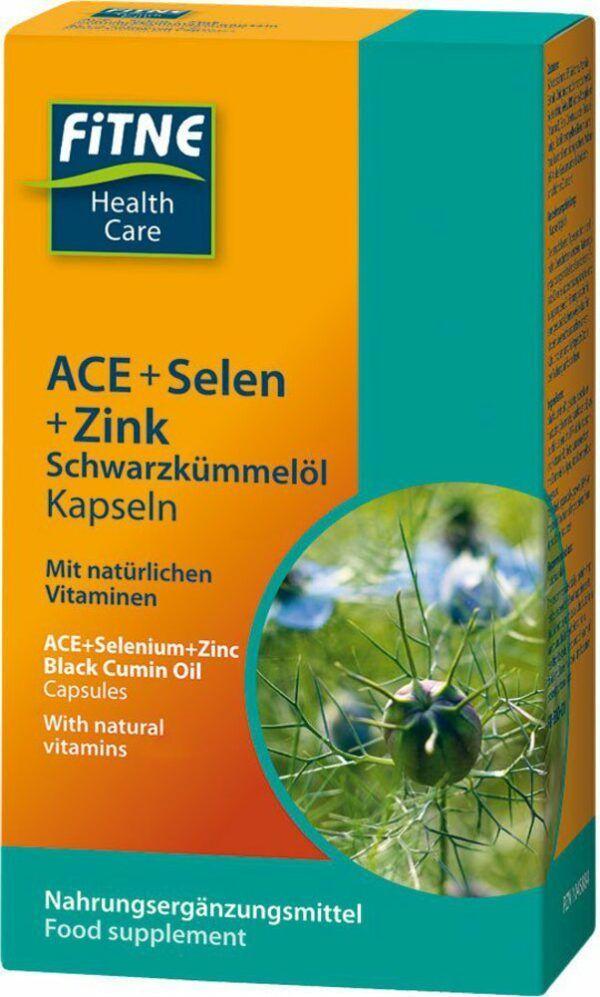 Fitne ACE + Selen + Zink Schwarzkümmelöl Kapseln 60Stück