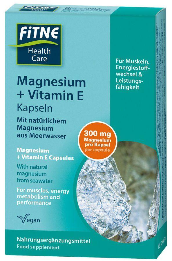 Fitne Magnesium + Vitamin E Kapseln 4x40g