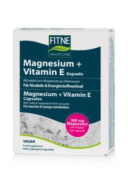 Fitne Magnesium + Vitamin E Kapseln 4x60Stück