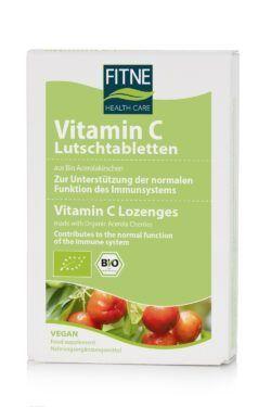 Fitne Vitamin C Lutschtabletten aus Bio-Acerolakirschen 30Stück