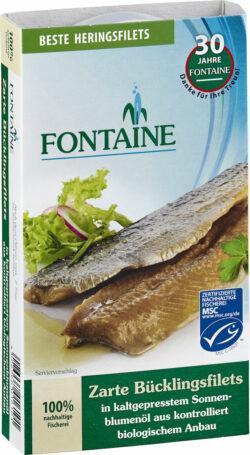 Fontaine Bücklingsfilet in Bio-Sonnenblumenöl 190g