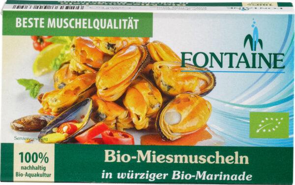 Fontaine Bio-Miesmuscheln in würziger Bio-Marinade 120g