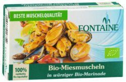 Fontaine Bio-Miesmuscheln in würziger Bio-Marinade 10x120g