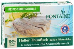 Fontaine Heller Thunfisch in Bio-Sonnenblumenöl 10x120g