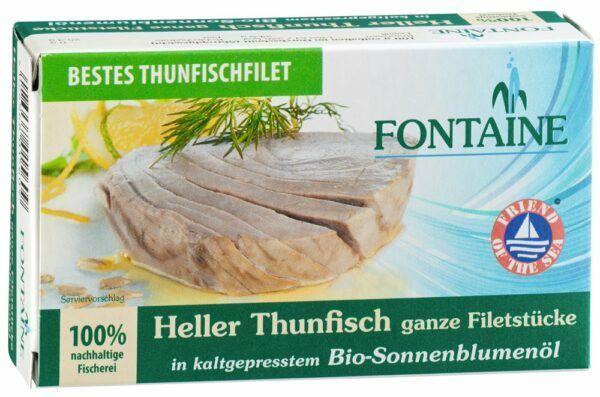 Fontaine Heller Thunfisch in Bio-Sonnenblumenöl 120g