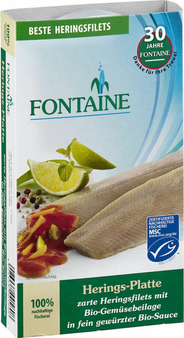 Fontaine Herings-Platte in Bio-Creme mit Bio-Gemüseeinlage 200g