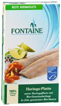 Fontaine Herings-Platte in Bio-Creme mit Bio-Gemüseeinlage 6x200g