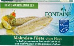 Fontaine Makrelen-Filets ohne Haut, ohne Gräten in Bio-Sonnenblumenöl 10x120g