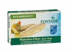 Fontaine Makrelen-Filets ohne Haut, ohne Gräten in Bio-Sonnenblumenöl 120g