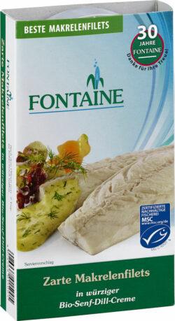 Fontaine Makrelenfilets in Bio-Senf-Dill-Creme 200g