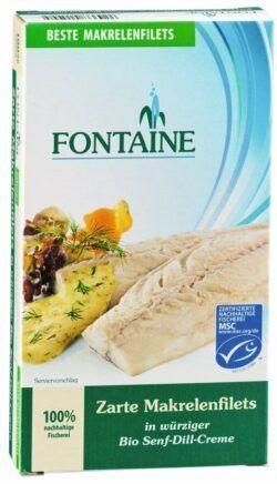 Fontaine Makrelenfilets in Bio-Senf-Dill-Creme 6x200g