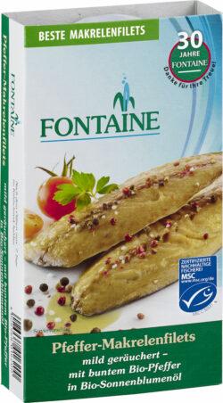 Fontaine Pfeffer-Makrelenfilets in Bio-Sonnenblumenöl 190g