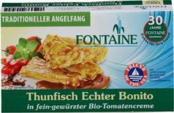 Fontaine Thunfisch Echter Bonito in fein-gewürzter Bio-Tomatencreme 120g