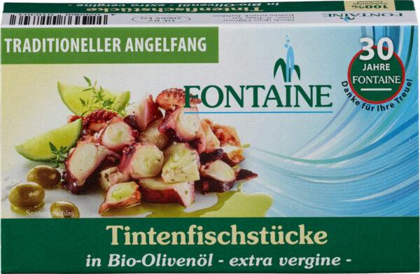 Fontaine Tintenfischstücke in Bio-Olivenöl 120g
