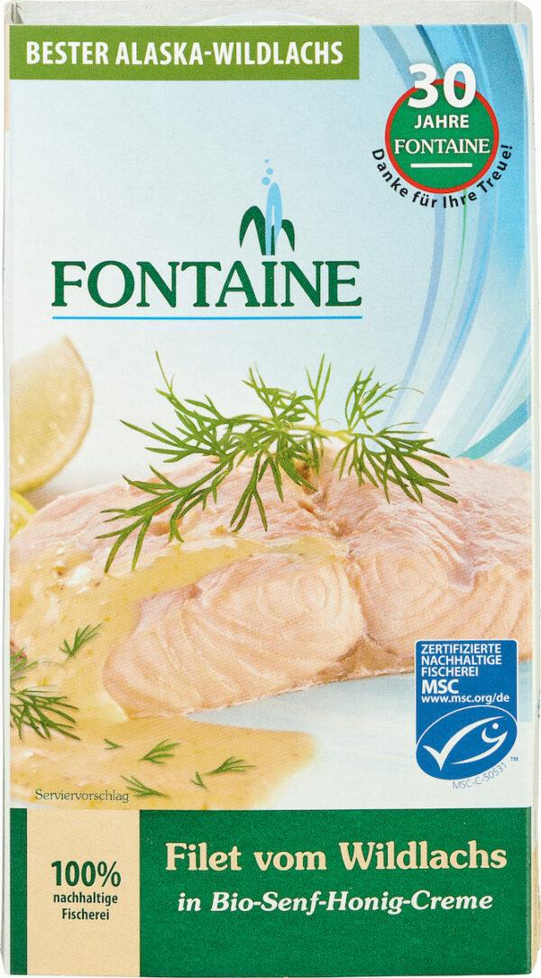 Fontaine Wildlachs-Filet in Bio-Senf-Honig-Creme 200g