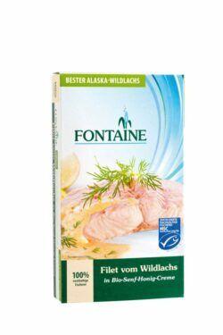 Fontaine Wildlachs-Filet in Bio-Senf-Honig-Creme 6x200g