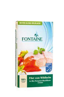 Fontaine Wildlachs-Filet in Bio-Tomaten-Basilikum-Creme 200g