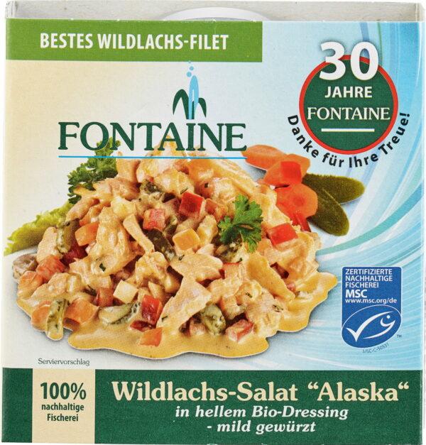 Fontaine Wildlachs-Salat Alaska in hellem Bio-Dressing - mild gewürzt 200g