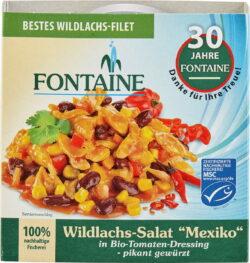 Fontaine Wildlachs-Salat Mexiko in Bio-Tomatendressing – pikant gewürzt 200g