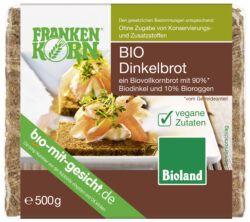Frankenkorn Bio Dinkelbrot- ein Biovollkornbrot mit 90% Biodinkel und 10% Bioroggen 6x500g