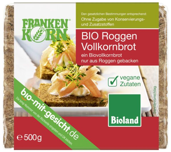 Frankenkorn Bio Roggen Vollkornbrot 6x500g