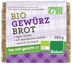 Frankenkorn Bio Roggenvollkornbrot mit Gewürzen 12x250g